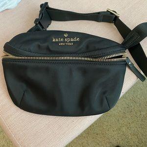 kate spade black belt bag fanny pack